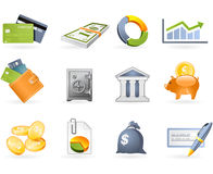 Banking and Finance icon set. On the white Royalty Free Stock Photos