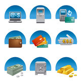 Banking icon set Royalty Free Stock Images