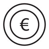 Euro. Banking and finance icon set suitable with your content Stock Photography