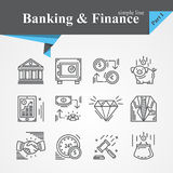 Banking and Finance icon Stock Images