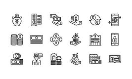 Banking and finance icons. Set Royalty Free Stock Photo