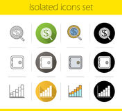 Banking and finance icons set Royalty Free Stock Photography