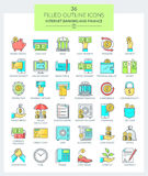 Banking and Finance Icons Royalty Free Stock Images