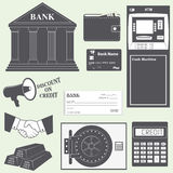 Banking and finance icons set Royalty Free Stock Photos