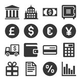 Banking and Finance Icons Set. Vector. Illustration Stock Image