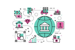 Banking and Finance Illustration Royalty Free Stock Photos