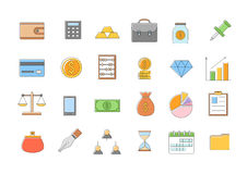 Banking and finance l icons set Stock Image