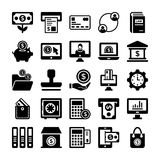 Banking and Finance Line Vector Icons 2 Stock Images