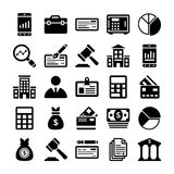 Banking and Finance Line Vector Icons 11 Royalty Free Stock Photography