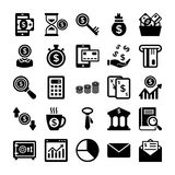 Banking and Finance Line Vector Icons 7 Royalty Free Stock Photography