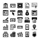 Banking and Finance Line Vector Icons 1 Stock Photos