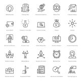 Banking and Finance Line Vector Icons 9 Royalty Free Stock Photo