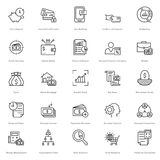 Banking and Finance Line Vector Icons 19. You can easily integrate these Banking and Finance Line Vector Icons in your design projects related to business stock illustration