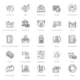 Banking and Finance Line Vector Icons 20 Stock Image