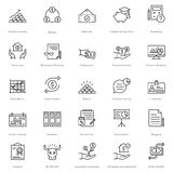 Banking and Finance Line Vector Icons 16 Royalty Free Stock Photography