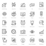 Banking and Finance Line Vector Icons 15 Stock Photography