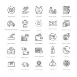Banking and Finance Line Vector Icons 5. You can easily integrate these Banking and Finance Line Vector Icons in your design projects related to business Royalty Free Stock Photo