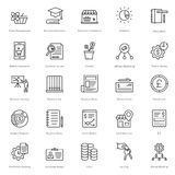 Banking and Finance Line Vector Icons 21 Royalty Free Stock Photo