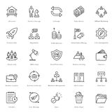 Banking and Finance Line Vector Icons 22 Royalty Free Stock Images