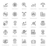 Banking and Finance Line Vector Icons 8 Stock Images