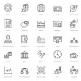 Banking and Finance Line Vector Icons 18. You can easily integrate these Banking and Finance Line Vector Icons in your design projects related to business Royalty Free Stock Image