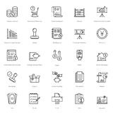Banking and Finance Line Vector Icons 17. You can easily integrate these Banking and Finance Line Vector Icons in your design projects related to business Stock Illustration