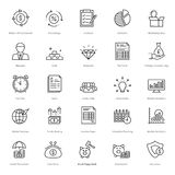 Banking and Finance Line Vector Icons 12. You can easily integrate these Banking and Finance Line Vector Icons in your design projects related to business Royalty Free Stock Photo