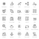Banking and Finance Line Vector Icons 10 Stock Photography