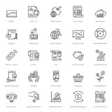 Banking and Finance Line Vector Icons 14 Royalty Free Stock Photography
