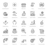 Banking and Finance Line Vector Icons 7 Stock Image