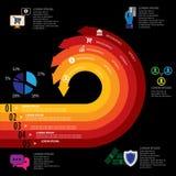 Banking, finance, money & e-commerce related infographics vector Stock Image