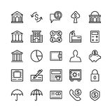Banking and Finance Outline Vector Icons 3 Stock Photo