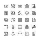 Banking and Finance Outline Vector Icons 1 Stock Photos