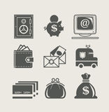 Banking and finance set icon. Vector illustration Royalty Free Stock Image