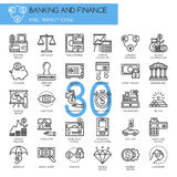 Banking and Finance , thin line icons set. Banking and Finance , pixel perfect icons ,  thin line icons set Royalty Free Stock Photo