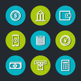 Banking and finances design. Vector illustration eps10 graphic Stock Photo