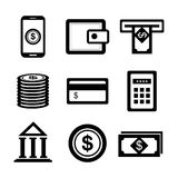 Banking and finances design. Vector illustration eps10 graphic Royalty Free Stock Photos