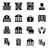 Banking & Financial icon set Stock Photos