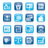 Banking and financial services icons Royalty Free Stock Photo