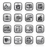 Banking and financial services icons. Vector icon set Stock Photos