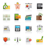 Banking and financial services icons. Vector icon set Royalty Free Stock Photo