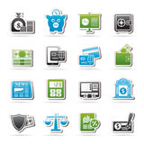 Banking and financial services icons. Vector icon set Stock Images