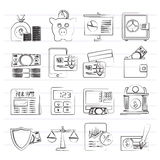 Banking and financial services icons. Vector icon set Royalty Free Stock Images
