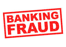 BANKING FRAUD. Red Rubber Stamp over a white background Stock Photography
