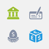Banking - Granite Icons. A set of 4 professional, pixel-perfect icons designed on a 32x32 pixel grid Royalty Free Stock Images