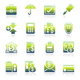 Banking green icons. Vector icons set for websites, guides, booklets Stock Photo