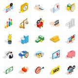 Banking house icons set, isometric style. Banking house icons set. Isometric set of 25 banking house vector icons for web isolated on white background Stock Photo