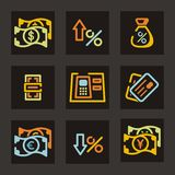 Banking Icon Series Royalty Free Stock Images