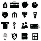 Banking icon set. The banking of icon set Royalty Free Stock Image