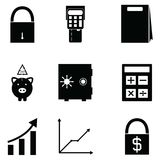 Banking icon set. The banking of icon set Royalty Free Stock Images